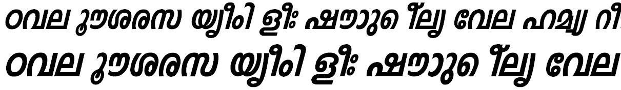 FML-Indulekha Heavy Bold Italic Malayalam Font