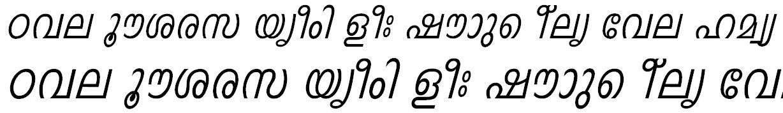 FML-Indulekha Italic Malayalam Font