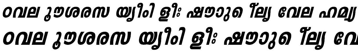 FML-Leela Heavy Italic Malayalam Font