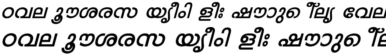 FML-Mohini Bold Italic Malayalam Font