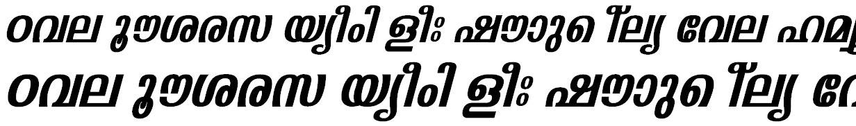 FML-Padmanabha Bold Italic Bangla Font