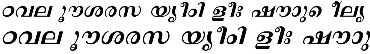 FML-Revathi Bold Italic Bangla Font