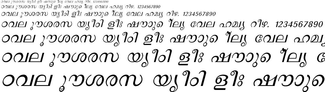 FML-Revathi Italic Malayalam Font