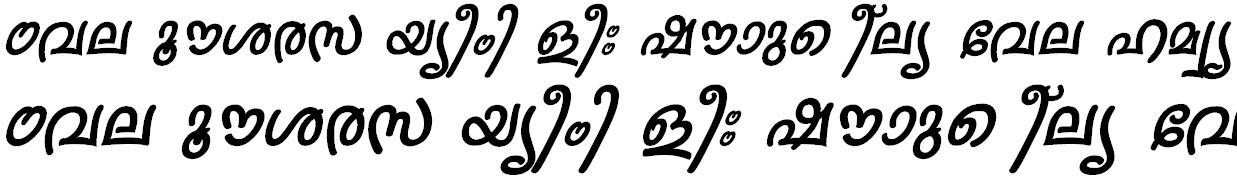 FML-Sruthy Bold Italic Bangla Font