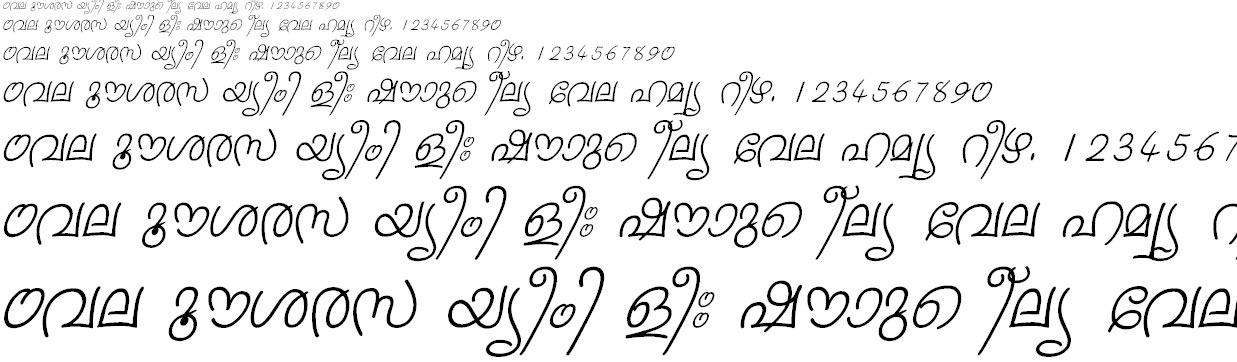 FML-Sruthy Italic Malayalam Font