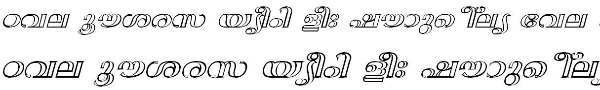 FML-TT-Anjali Bold Italic Malayalam Font