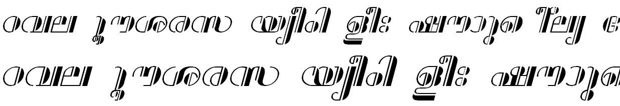 FML-TT-Aparna Bold Italic Malayalam Font