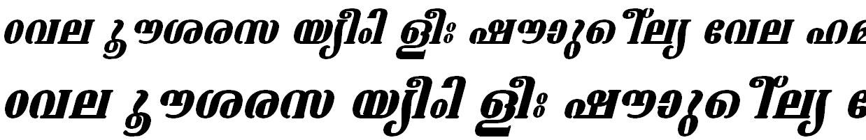 FML-TT-Ashtamudi Bold Italic Malayalam Font