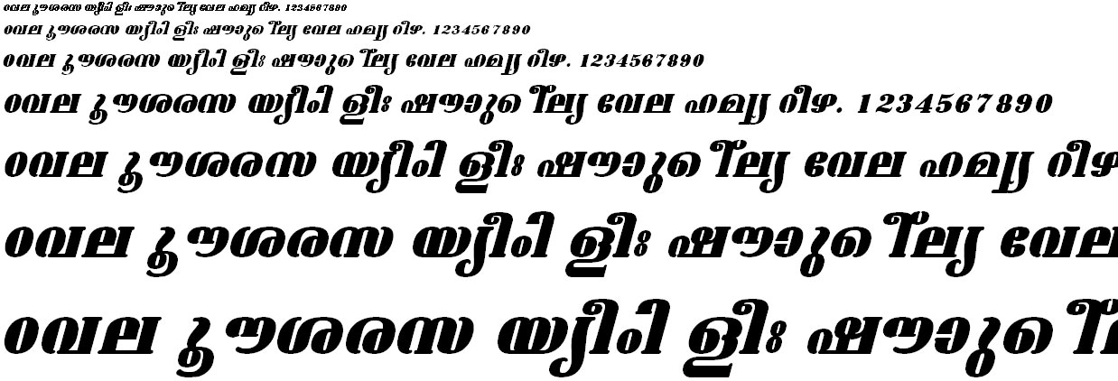 FML-TT-Ashtamudi ExBold Italic Malayalam Font