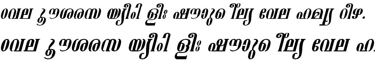 FML-TT-Ashtamudi Italic Bangla Font
