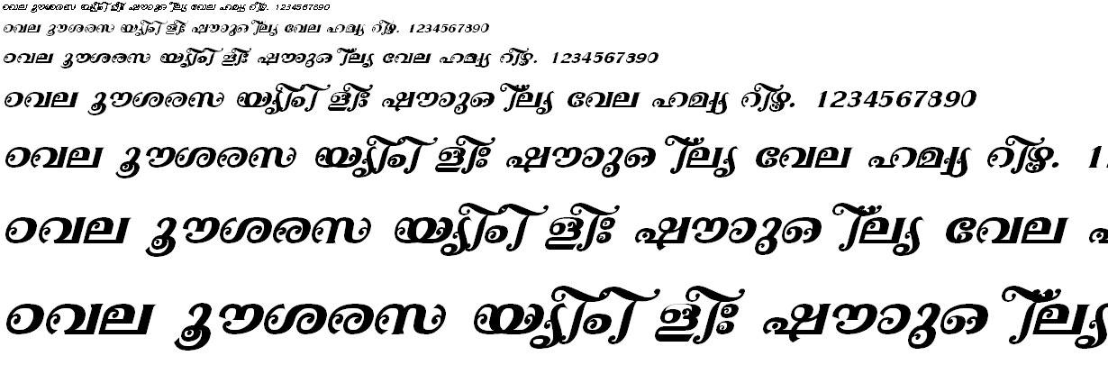 FML-TT-Ayilyam Bold Italic Malayalam Font