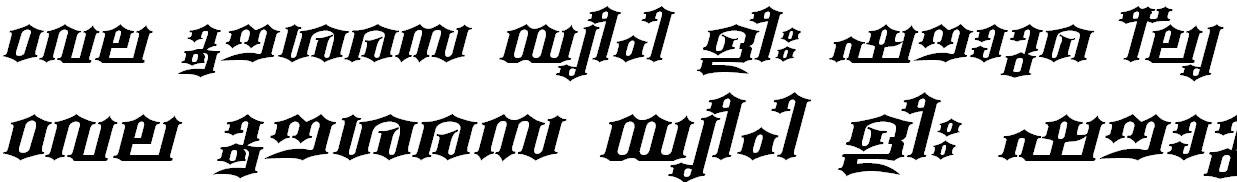 FML-TT-Beckal Bold Italic Malayalam Font