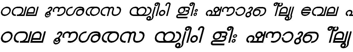 FML-TT-Chandrika Bold Italic Malayalam Font