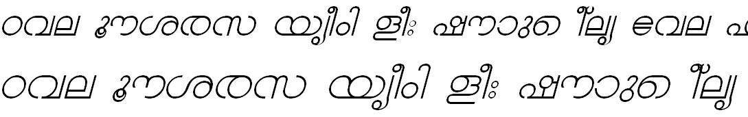 FML-TT-Chandrika Italic Malayalam Font
