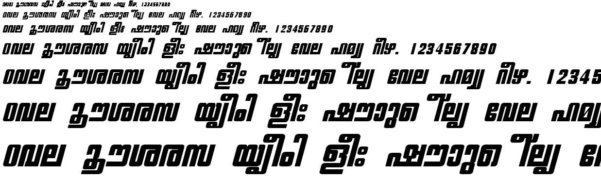 FML-TT-Chithira Heavy Bold Italic Malayalam Font