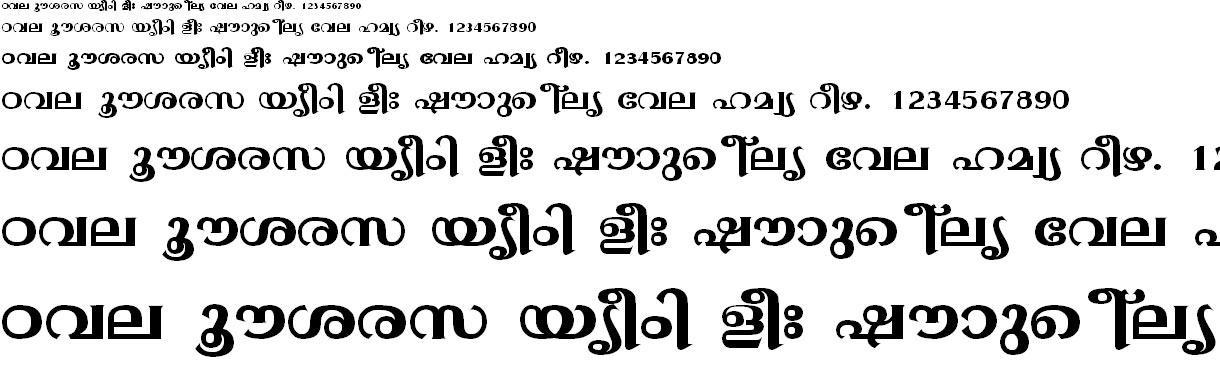 FML-TT-Gopika Bold Malayalam Font