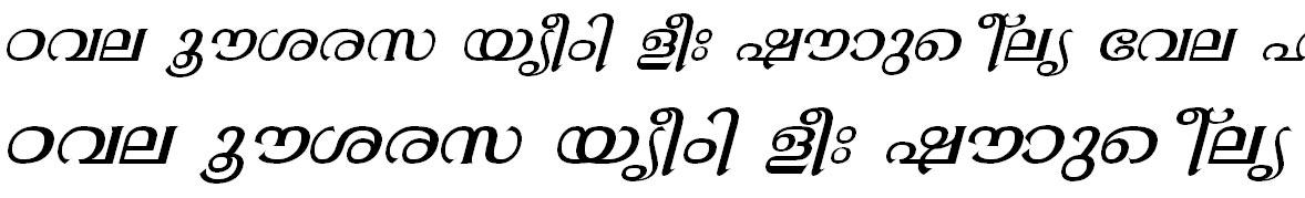 FML-TT-Gopika Italic Malayalam Font