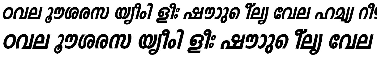 FML-TT-Indulekha Heavy Bold Italic Malayalam Font