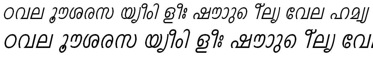 FML-TT-Indulekha Italic Malayalam Font