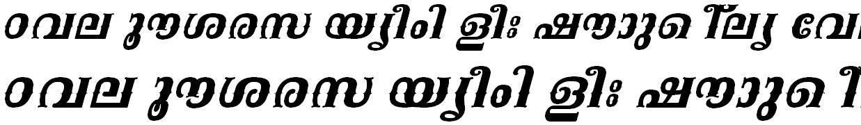 FML-TT-Kala Bold Italic Malayalam Font