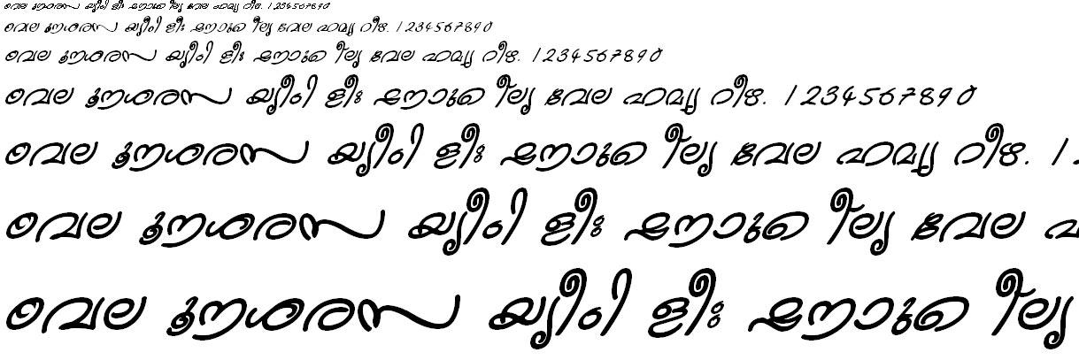 FML-TT-Kanika Bold Italic Malayalam Font