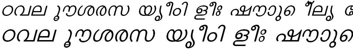 FML-TT-Karthika Italic Malayalam Font