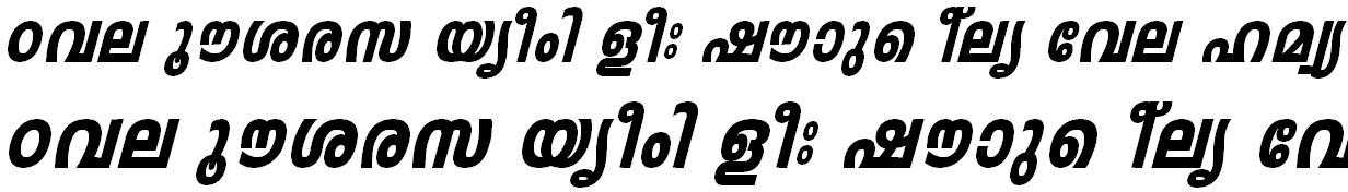 FML-TT-Leela Heavy Italic Malayalam Font