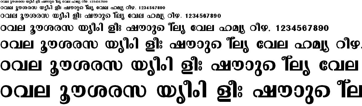 FML-TT-Malavika Bold Malayalam Font
