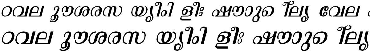 FML-TT-Malavika Italic Malayalam Font