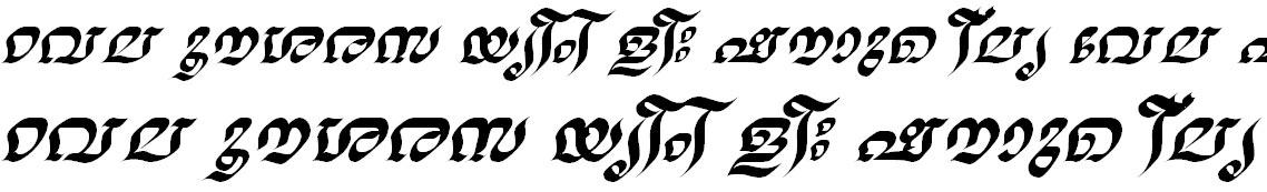 FML-TT-Nalini Bold Italic Malayalam Font