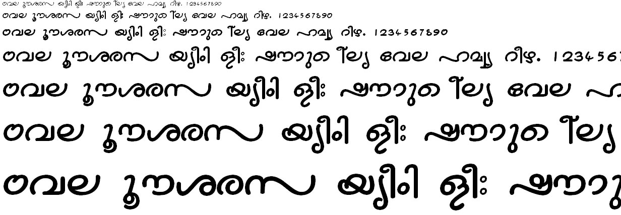 FML-TT-Nandini Bold Malayalam Font
