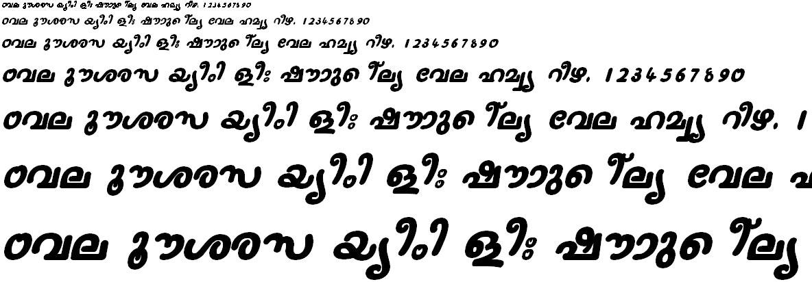 FML-TT-Nanditha Bold Italic Malayalam Font