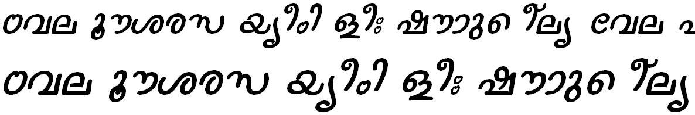 FML-TT-Nanditha Italic Malayalam Font