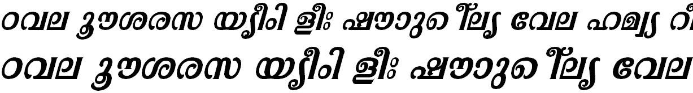 FML-TT-Pooram Bold Italic Malayalam Font