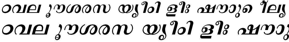 FML-TT-Revathi Bold Italic Malayalam Font