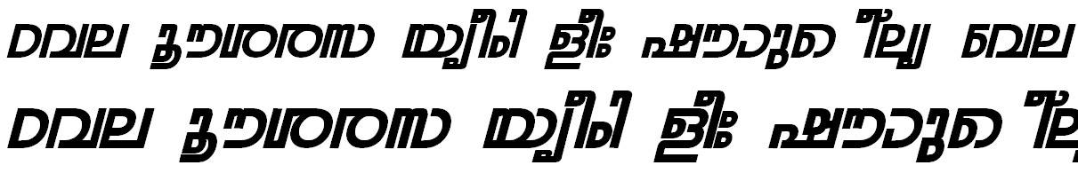 FML-TT-Rohini Bold Italic Bangla Font