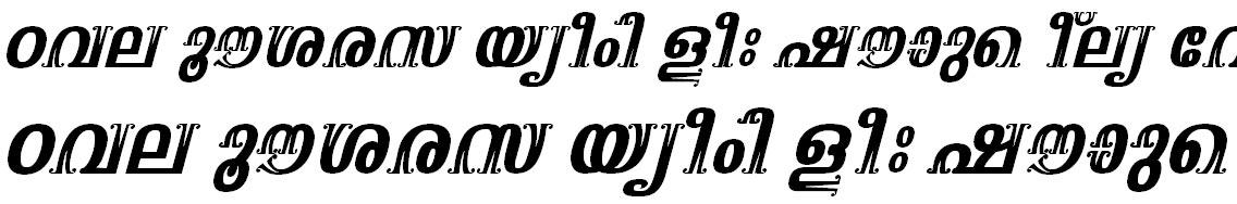 FML-TT-Suparna BoldI talic Malayalam Font