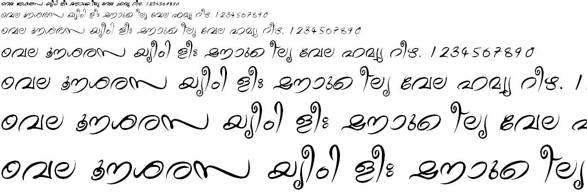 FML-TT-Theyyam Malayalam Font