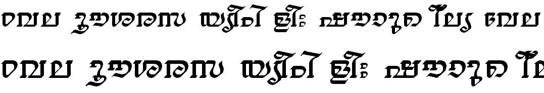 FML-TT-Thiruvathira Bangla Font
