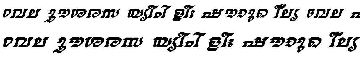 FML-TT-Thiruvathira Bold Italic Bangla Font