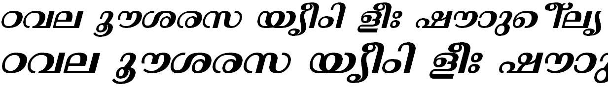 FML-TT-Thunchan Bold Italic Malayalam Font