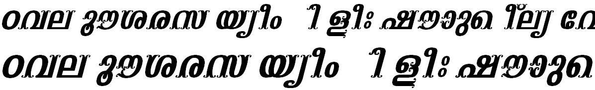 FML-TT-Vaisali Bold Italic Malayalam Font