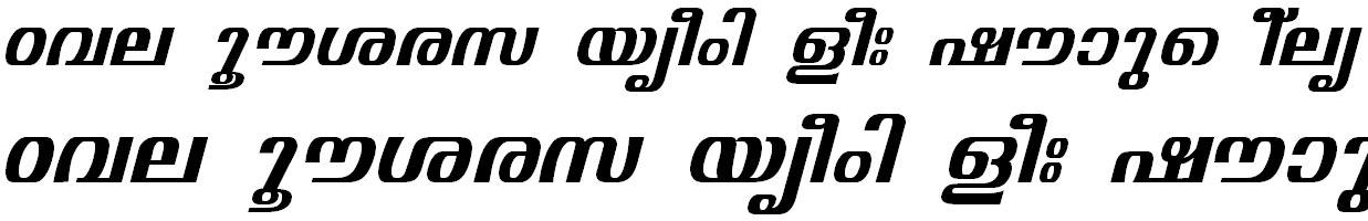 FML-TT-Visakham Bold Italic Malayalam Font