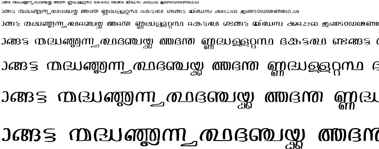 Jacobs Mal Handwriting-2 Malayalam Font